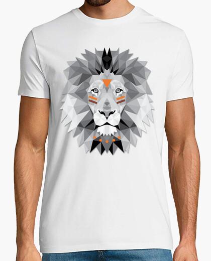 Tee-shirt boho lion poly