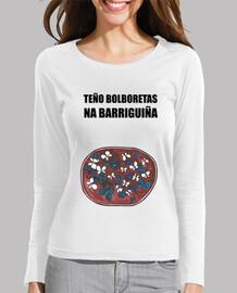 Bolboretas na barriguiña camiseta manga larga