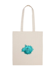 Bolsa - Camera Watercolor Cyan (Black)