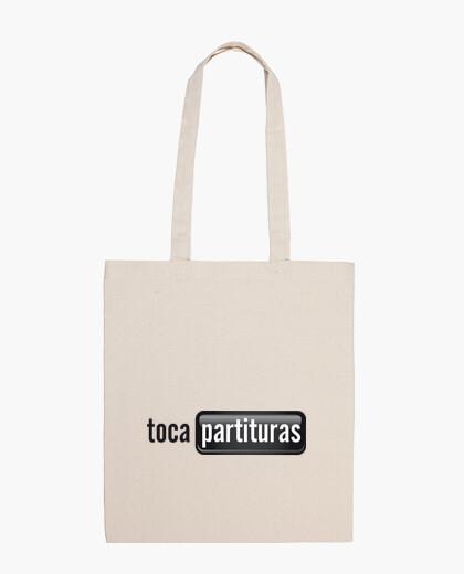 Bolsa Bolso tocapartituras.com blanco y negro