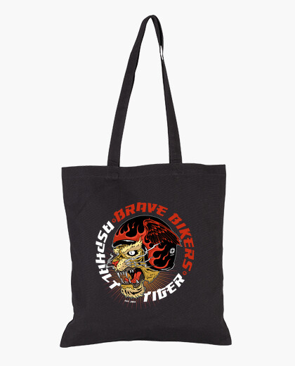 Bolsa Brave Bikers Asphalt Tiger Black