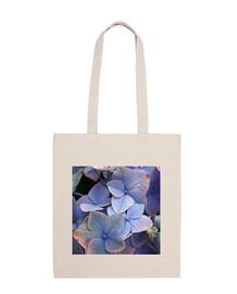 Bolsa con hortensias