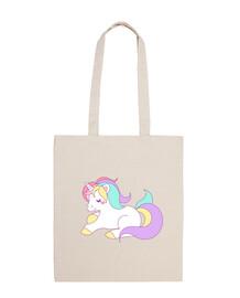 Bolsa con unicornio infantil