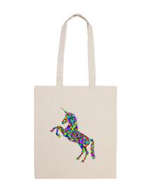 Bolsa con unicornio psicodélico