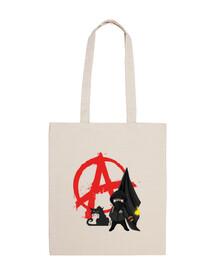 bolsa de 10 litros - anarquía bloque gato negro