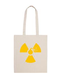 bolsa de 10 litros - bomba nuclear amarilla