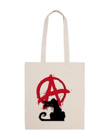 bolsa de 10 litros - gato anarquista