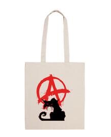 bolsa de 10 litros - gato negro anarquista