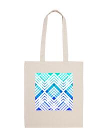 bolsa de playa de tartán azul fresco revisitado