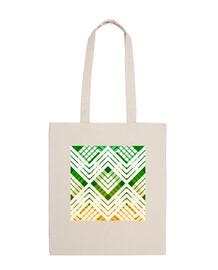 bolsa de playa de tartán verde fresco revisitado