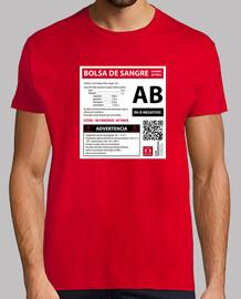 Bolsa de sangre AB- (fondo blanco)