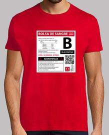 Bolsa de sangre B  (fondo blanco)