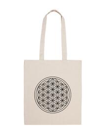 bolsa de tela 100 flores de algodón de la vida
