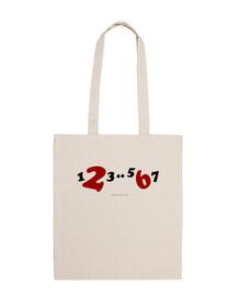 bolsa de tela 1,2,3..5,6,7 color