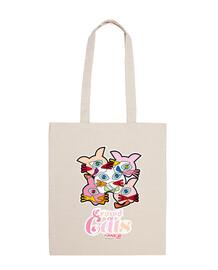 Bolsa de tela, color natural Crowd of cats, Multitud de Gatos