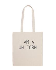 Bolsa de tela, color natural,Unicornio,Regalo,Cumpleaños,Corazones,Flores,Pony,Bonita,Infantil,Hija,