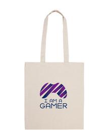 Bolsa de tela con diseño I am a gamer