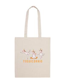 Bolsa de tela de algodón | Unicornio en Yoga