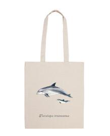 Bolsa de tela Delfín mular (Tursiops truncatus)
