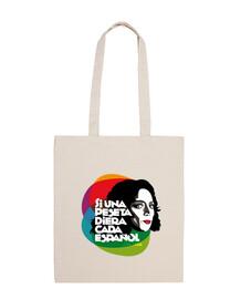 Bolsa de tela Lola Flores: Si una peseta diera cada español.