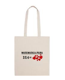 Bolsa de tela matematica 3x4