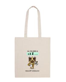 Bolsa de tela para los perezosos que necesitan 3 cafés