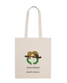 Bolsa de tela para los perezosos que se duermen en los laureles