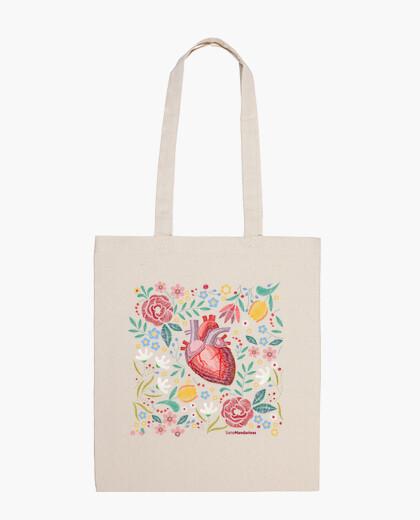 Bolsa Flores corazón