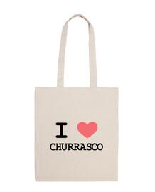 Bolsa I heart churrasco