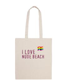 bolsa I LOVE NUDE BEACH gay