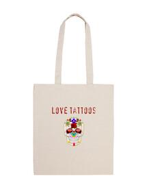 bolsa love tattoos