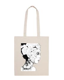 Bolsa mujer de las rosas.