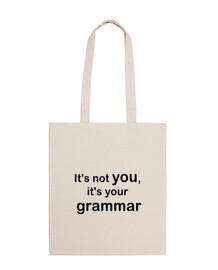 Bolsa no eres tú, es tu gramática