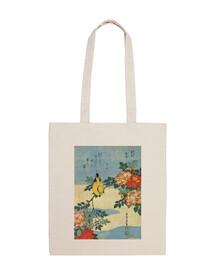 Bolsa Pájaro lienzo japonés