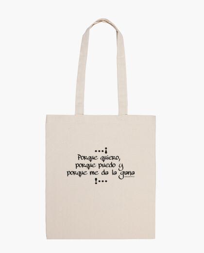 Bolsa porque quiero, porque puedo y porque me