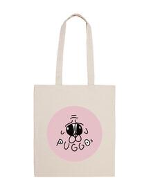 Bolsa Puggos Logo blanca