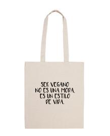 Bolsa Ser vegano no es una moda, es un estilo de vida