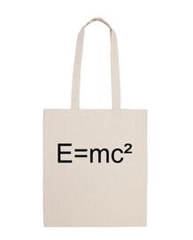 Bolsa tela 100% algodón Camiseta formula Einstein