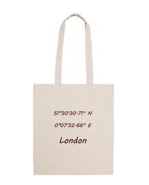 Bolsa tela 100% algodón Coordenadas London