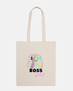 Bolsa tela 100% algodón I am the Boss baby