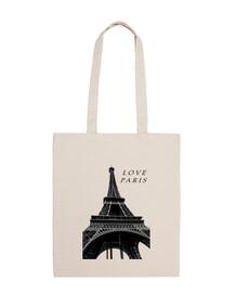 Bolsa tela 100 algodón Paris