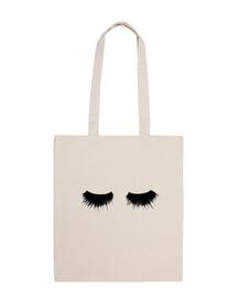 Bolsa tela 100% algodón Pestañas - Fobulous beauty