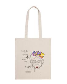 Bolsa tela 100% algodón, tote Frida Kahlo