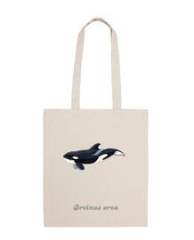 Bolsa tela Bebe orca (Orcinus orca)