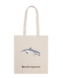 Bolsa tela Delfin acróbata (Stenella longirostris)