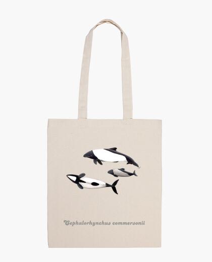 Bolsa tela Delfin de Commerson tonina overa