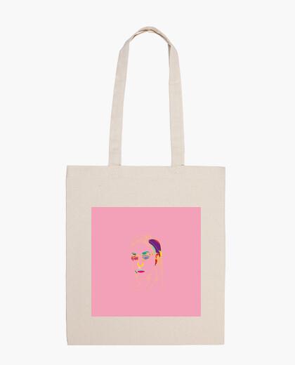 Bolsa tela diseño retrato