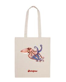 Bolsa tela octopus pulpo