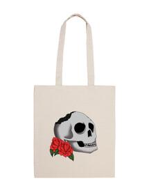 """Bolsa tela """"Skull and Roses"""""""