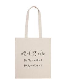 Bolsa tela Schrödinger,Dirac, Klein-Gordon